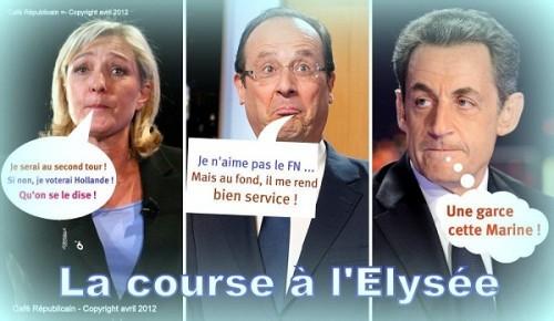 Marine Le Pen, François Hollande, Présidentielles 2012,